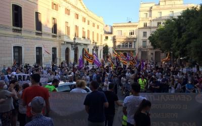 Final de la marxa a la plaça de Sant Roc | Ràdio Sabadell