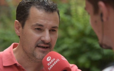 Òscar Lanuza entrevistat a Ràdio Sabadell | Arxiu Roger Benet