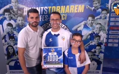 Dani Gallego, el soci número 1.000 que ha renovat o s'ha donat d'alta aquesta temporada | CES