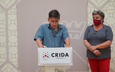Lluís Perarnau i Nani Valero durant la roda de premsa d'avui | Cedida