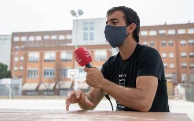Oleguer Presas, durant l'entrevista amb Ràdio Sabadell | Roger Benet