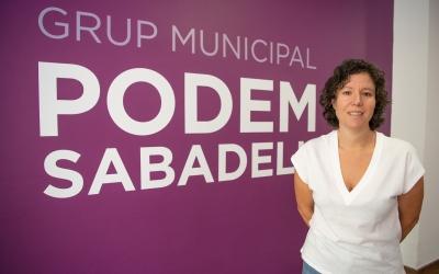 Marta Morell, a la seu de Podem a la Concòrdia | Roger Benet
