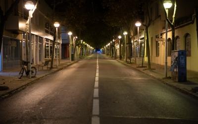 Carretera de Prats de Lluçanès buida durant el confinament | Roger Benet