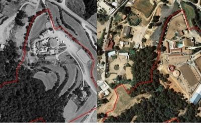 Imatge de l'evolució de la finca de Ca n'Alzina, limítrof amb Can Xupa