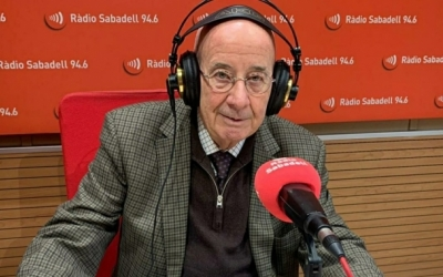 Antoni Quintana en una visita a la Ràdio | Arxiu