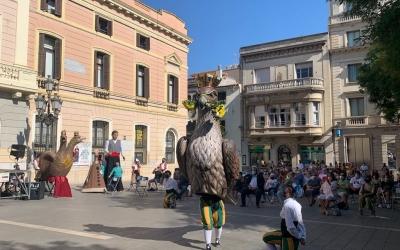 L'Àliga de Sabadell en el seu primer ball a plaça Sant Roc | Mireia Sans