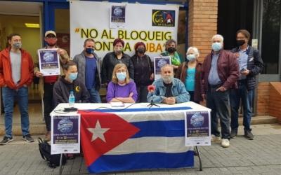 El Casal Cubà presentant la campanya de recollida de xeringues | Arxiu