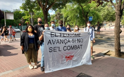 Membres de Jovent Republicà a les portes dels jutjats de Sabadell | Núria García