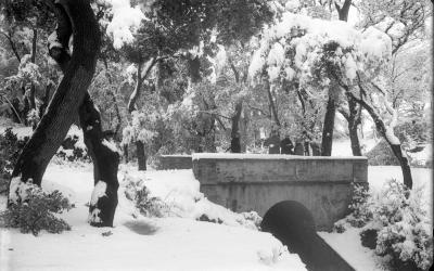 L'antic pont de Sant Quirze, soterrat en l'actualitat, a principis del segle XX | Associació Cultural de Can Feu