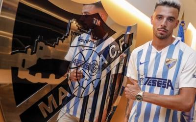 Cristian fa un any en la seva presentació com a nou jugador del Málaga | Málaga CF
