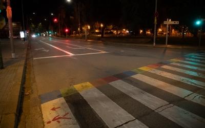 Un carrer de Sabadell durant el toc de queda/ Roger Benet
