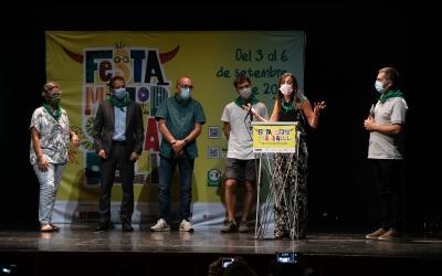 Els pregoners de la Festa Major, durant la presentació/ Roger Benet