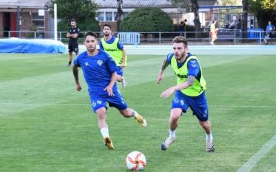 En l'entrenament d'ahir, Diego Caballo es va exercitar per primer cop amb el Sabadell | CES