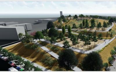 Imatge de com quedarà el Parc de les Aigües | Cedida
