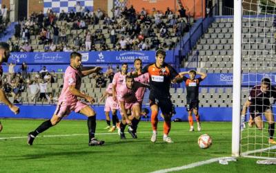 Kaxe ha tingut l'ocasió més clara del partit a la segona meitat | CE Sabadell