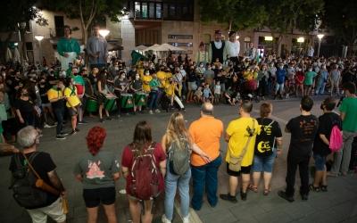 La concentració a plaça de Sant Roc | Roger Benet