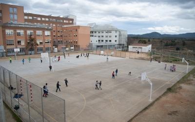 Vista general del pati de l'Escola Samuntada | Roger Benet
