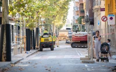 El carrer Indústria aquest matí | Roger Benet