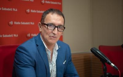 Juan Diego Valverde durant l'entrevista a l'Hotel Suís | Roger Benet