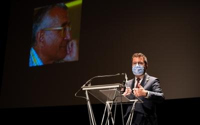 El president de la Generalitat de Catalunya, Pere Aragonès, ha assistit a l'homenatge a Benaul | Roger Benet