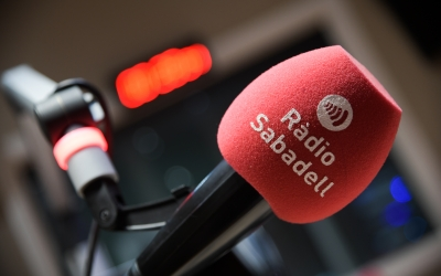 Imatge d'un micro de Ràdio Sabadell | Roger Benet