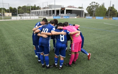 Els jugadors del Centre d'Esports Sabadell instants abans de començar el partit | Twitter