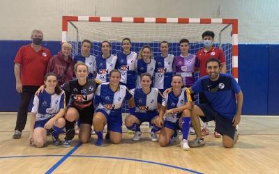 Plantilla 2021/22 en un dels amistosos de pretemporada | FS Sabadell Fem