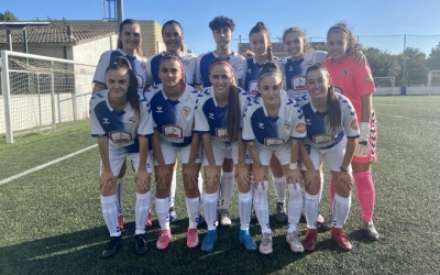 La plantilla del CES Femení abans del partit contra el Palautordera CF | Twitter