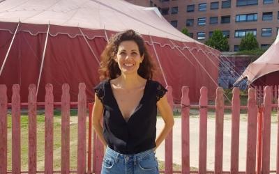 Mireia Llunell, davant de la Vela/ Raquel Garcia