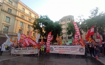 Treballadors del BS protestant a la plaça Sant Roc | Pere Gallifa