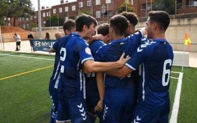 Olímpia, amb bona presència de públic, va poder celebrar dos gols del Sabadell | FutBaseCES