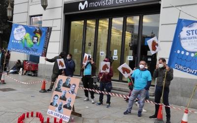 Treballadors de Cotronic, manifestant-se | Cedida