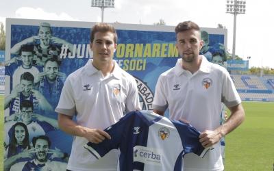 'Kaxe' i Gabarre, amb la samarreta del Sabadell | CES