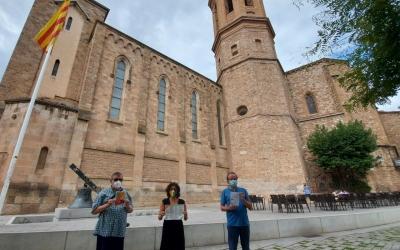 Marta Morell, amb Toni Ibáñez (esquerra) i Jordi Afonso, de la Federació de l'Àfrica Negra/ Karen Madrid