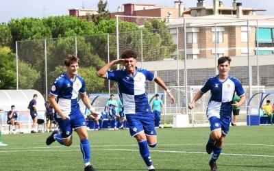 Jugadors del Juvenil A celebrant un gol a la primera jornada de lliga | Instagram