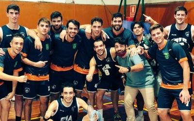El Bàsquet Pia, celebrant la victòria contra el Lliça d'Amunt | @BasquetPia