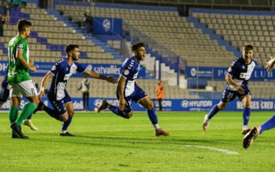 Moha, celebrant el seu primer gol com a arlequinat | Críspulo Díaz