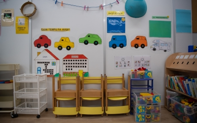 Una aula d'educació infantil/ Roger Benet