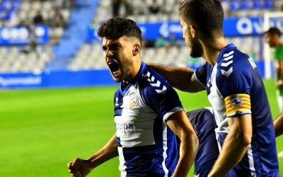 Ezzarfani celebrant el seu primer gol com a arlequinat | Críspulo Díaz