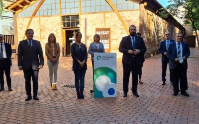 Representants de l'Arc Metropolità, en la constitució d'aquest matí a Mataró/ Cedida