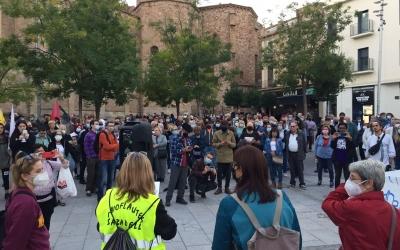 Una imatge de la mobilització d'aquesta tarda | Ràdio Sabadell