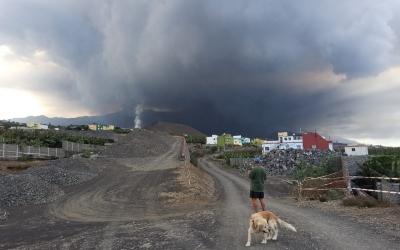 Imatge del volcà de Cumbre Vieja a La Palma | Cedida