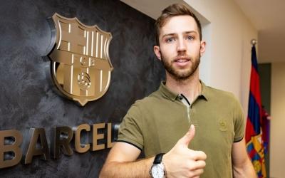 Aleix Gómez ha signat avui la renovació | FC Barcelona