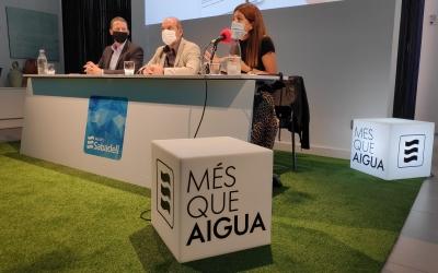 Cabanillas, Robles i Santacruz atenent avui als mitjans de comunicació | Pau Duran