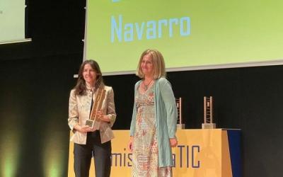 Anna Benavent recollint el premi | Cedida