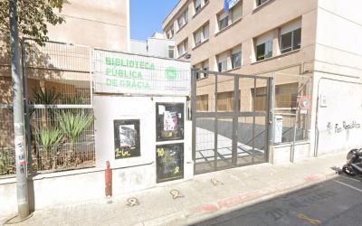 La Biblioteca de Gràcia està ubicada a l'institut Pau Vila | Google Maps